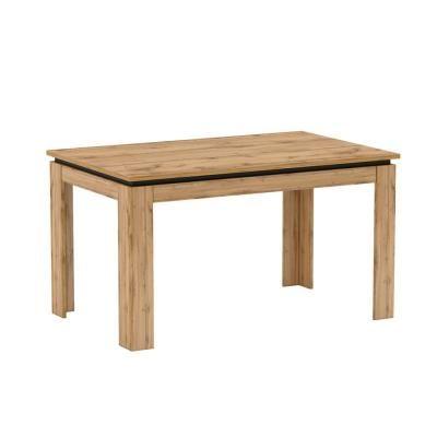Étkezőasztal, nagyobbítható, 135x86 cm, tölgy-fekete - MUNICH